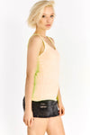 Light Yellow Round Neck Top