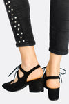 Black Faux Suede Shoes