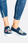 Denim Slip On Shoes