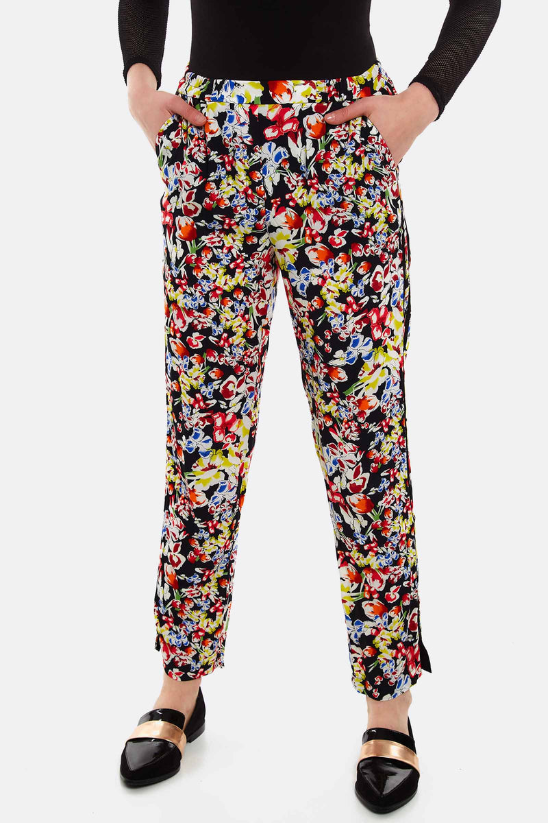 Multicolour Floral Pattern Trousers