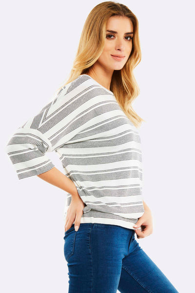 Cream Striped Jumper