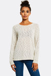 Beige Jumper With Round Neck