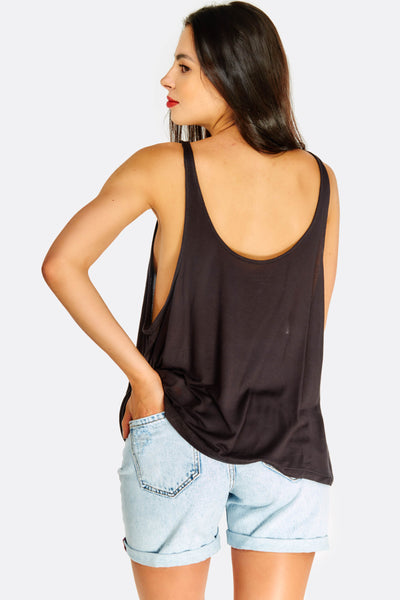 Black Loose Fit Top