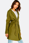 Military Green Coat With Belt
