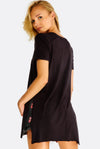 Black T-Shirt With Side Slits