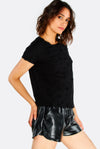 Black Patterned T-Shirt
