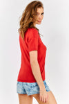 Red V Neck T-Shirt