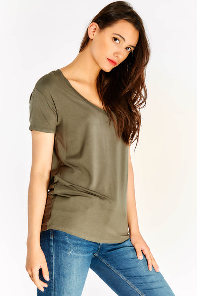 Olive Green Short Sleeved Top