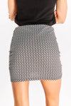 Black Patterned Skirt