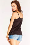 Black Lace Trim Cami Top