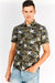 Multicoloured Camo Printed Short Sleeve Shirt