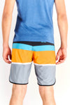 Multicoloured Swim Shorts With Back Pockets