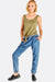 Denim Jeans With Contrast Hems