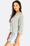 Light Grey Loose Fit Blouse