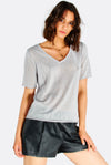 Light Grey V-Neck T-Shirt