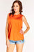 Orange Sleeveless High Neck Top
