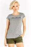 Grey T-Shirt With Text Print