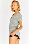 Grey Boat Neck T-shirt