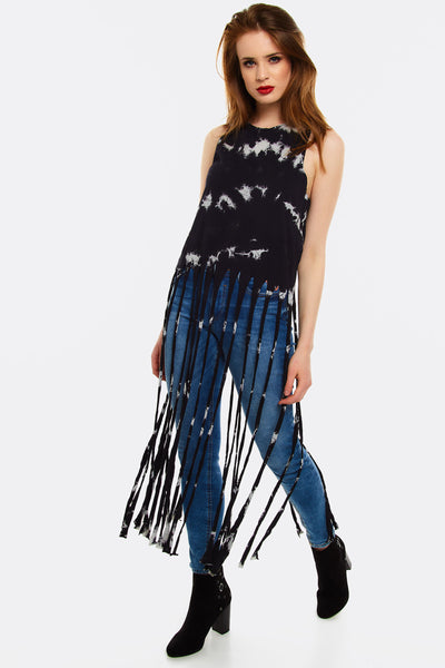 Black Top With Long Fringes