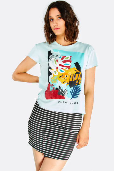 Multicoloured Printed T-Shirt