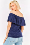Navy Blue Bardot Blouse