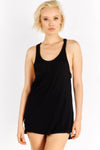 Long Black Racerback Top