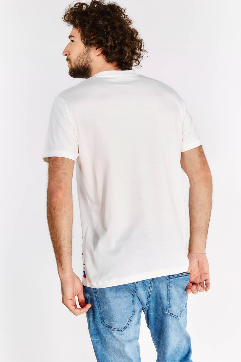 Cream Printed T-Shirt