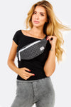 Black Polka Dot Waist Bag