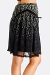 Black Skirt With Floral Pattern
