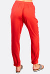 Red Trousers With Drawstring Through Waist