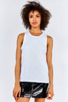 White Mesh Back Vest Top