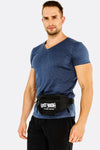 Black Waist Bag With Applique