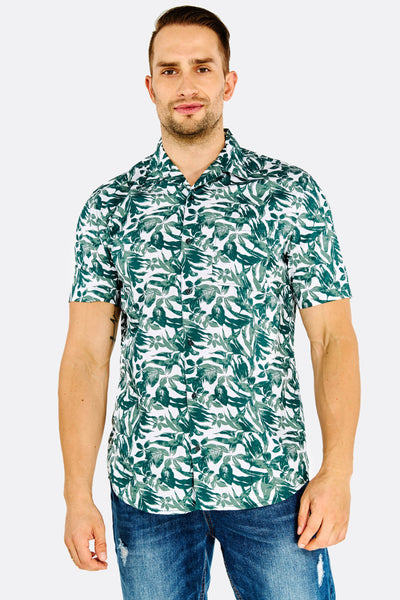 Green Patterned Cotton Shirt