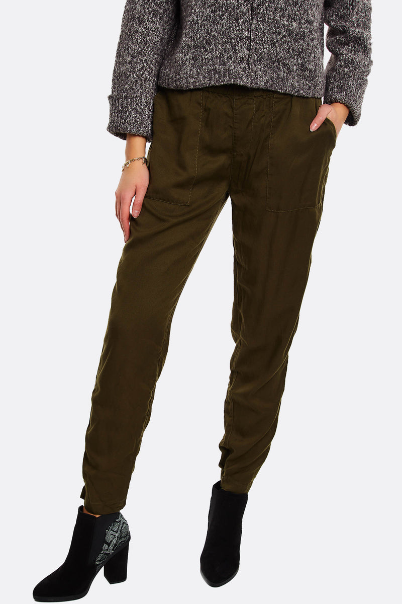 Military Green Lyocell Trousers