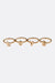 Gold 'Love' Ring Set