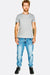 Light Blue Ripped Knee Jeans
