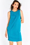 Blue-Green Dress With Side Pockets