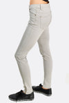 Light Grey Trousers With Zipped Ankle Slits