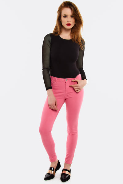 Pink Skinny Trousers