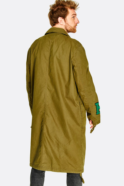 Long Green Jacket With Patches
