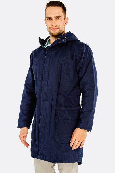 Navy Hooded Parka Jacket