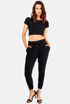Black Modal Blend Trousers