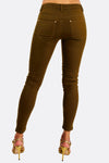 Khaki Zip Detail Trousers