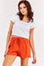 Orange Tie Waist Shorts