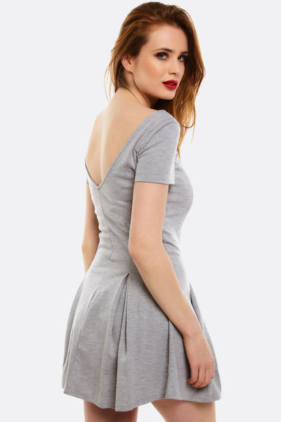 Light Grey Flared Dress