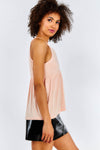 Pink Loose Fit Cami Top