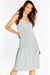 Light Grey Dress With Flared Hem