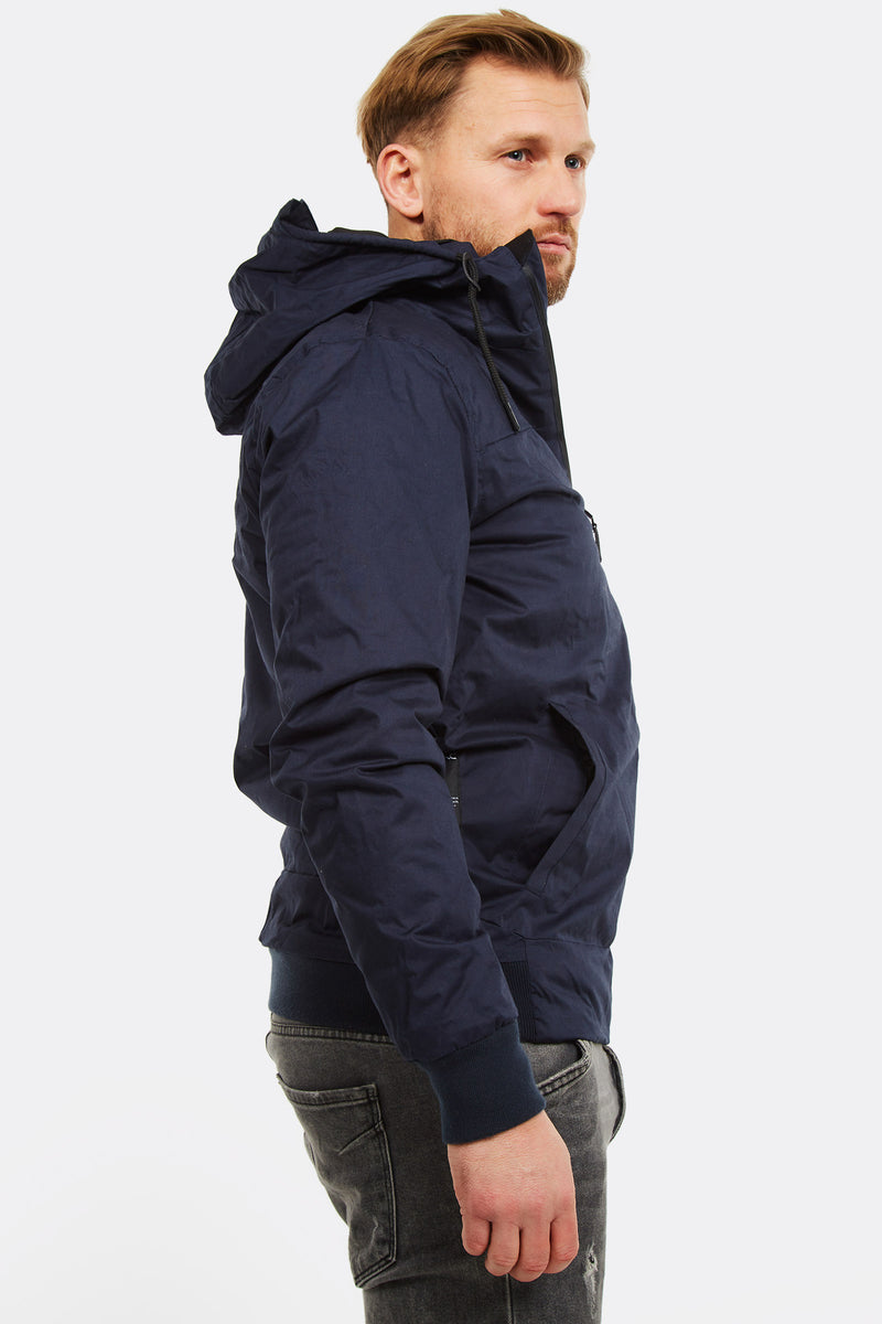 Navy Hooded Jacket