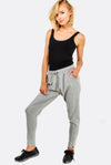 Grey Cotton Sports Trousers