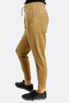 Olive Green Cotton Sports Trousers